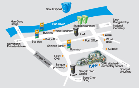 Chung-Ang University Campus Map